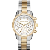 eec391d96fd4 Michael Kors Women s Ritz Two Tone Chronograph Watch