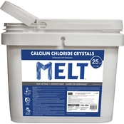 Snow Joe Melt 25 lb. Bucket Calcium Chloride Crystals Ice Melter