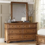 aspenhome Alder Creek Complete Dresser and Mirror