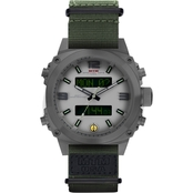 MTM Special Ops Men's Air Stryk I Grey White Dial - Nylon Green Watch AS1GWHNYGN