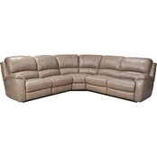 Bassett Godfrey 5 Pc. Power Reclining Sectional