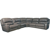 Bassett Godfrey 6 Pc. Power Reclining Sectional