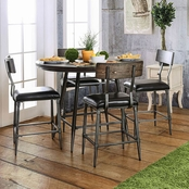 Furniture of America Mullane Round Metal Pub Table