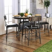 Furniture of America Mullane 5 Pc. Metal Pub Set