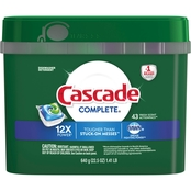 Cascade Complete Dishwasher Detergent ActionPacs Fresh 43 Count