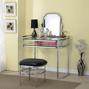 Furniture of America Coleen Vanity with Mirror and Stool