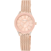 Anne Klein Women's Crystal Accented Rose Goldtone Mesh  Watch 30mm AK/2208RGRG