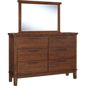 Signature Design by Ashley Ralene Dresser and Mirror Set