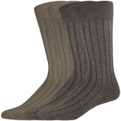 Dockers Men's Dress Wide Rib Crew Socks 4 pk.