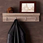 Southern Enterprises Argo Wall Mount Shelf with Hooks