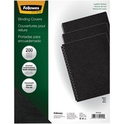 Fellowes Executive Presentation Binding System Covers, 11.25 x 8.75, Black, 200 Pk.