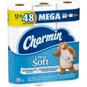 Charmin Ultra Soft Mega Roll Toilet Paper 12 Pk. 402 Sq. Ft.