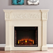 SEI Carved Electric Fireplace