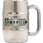 Great American Products 16 oz. Double Wall Stainless Steel Barrel Mug