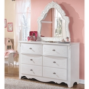 Signature Design by Ashley Exquisite Dresser and French Mirror set