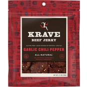 Krave Garlic Chili Pepper Beef Jerky 2.7 oz.