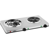 Salton Stainless Steel Portable Double Burner Cooktop