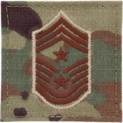 Air Force Command Chief Master Sergeant (CCM) E-9 Rank Velcro (OCP)