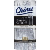 Chinet Cut Crystal Cutlery 48 ct.