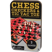 Cardinal Games Chess / Checkers / Tic Tac Toe Set
