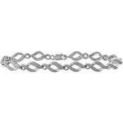 Sterling Silver 1/10 CTW Diamond Bracelet