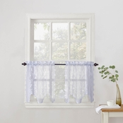 Alison Sheer Lace Kitchen 58 x 24 Curtain Tier Pair
