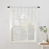 Alison Sheer Lace Kitchen Curtain Swag Pair, 58 x 38