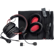 Kingston HyperX Cloud II Gaming Headset for PC/PS4/Mobile, Red and Black