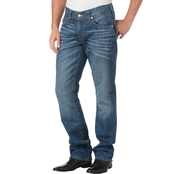True Religion Straight Jeans With Back Flap Pockets