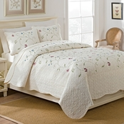 WestPoint Home Sophia 3-Piece Embroidered Quilt Set