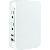 GE Side Access 2 Outlet In Wall Surge Protector with 2 USB Ports