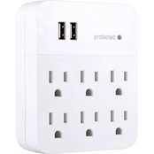 GE 6 Outlet In-Wall Surge Protector with USB