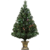 Puleo 32 In. Fiber Optic Christmas Tree with Base