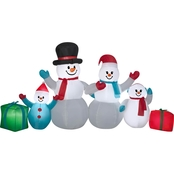 Airblown 6 Pc. Winter Snowman Collection Scene