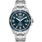 Citizen Men's TI+IP Eco-Drive WR100 Bracelet Watch BM692956L