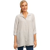 Foxcroft Skye Striped Linen Tunic