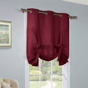 Commonwealth Home Fashions Prescott Lined Grommet Top Tie Up Drapery Panel