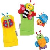 Lamaze Gardenbug Foot Finders & Wrist Rattle Set