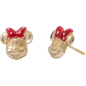 Disney 14K Gold Minnie Mouse Bow Stud Earrings