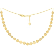 14K Yellow Gold 27 Multi Small Disk Choker