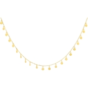 14K Yellow Gold Baby Dangle Disks Necklace
