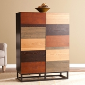 SEI Harvey Multi-Tonal Bar Cabinet