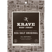 Krave Sea Salt Original Beef Jerky 1 0z.
