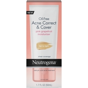Neutrogena Oil-Free Acne Moisturizer Correct & Cover Pink Grapefruit, 1.7 oz.