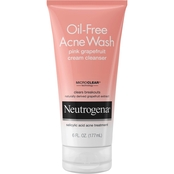 Neutrogena Oil-Free Acne Wash Pink Grapefruit Cream Cleanser, 6 oz.