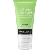 Neutrogena Oil-Free Acne Wash Redness Soothing Cream Facial Cleanser, 6 oz.