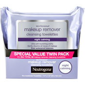 Neutrogena Makeup Remover Night Calming Cleansing Towelettes, 2 pk.