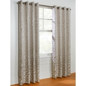 Commonwealth Home Fashions Hammered Leaf Grommet Top Drapery Panel