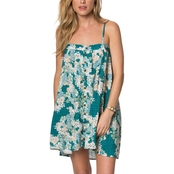 O'Neill Juniors Brice Floral Printed Woven Dress