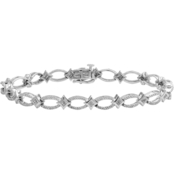 10K White Gold 1CTW Diamond Accent Fashion Bracelet
